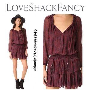 LoveShackFancy Popover Dress in Fig 1(S)